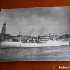Postales: ANTIGUA POSTAL PUERTO DE HAMBURGO SEGGERN & SOHN - BARCO. Lote 62376232