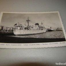 Postales: BUQUE DE TRASMEDITERRANEA CIUDAD DE CADIZ. Lote 62927640