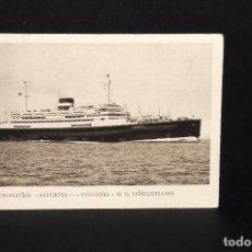 Postales: ANTIGUA POSTAL MOTONAVIOS SATURNIA Y VULCANIA. COSULICH-LINE. Lote 64669155