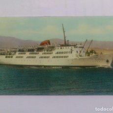 Postales: BARCO CRUCERO, CIUDAD DE TARIFA, SALIENDO DEL PUERTO DE ALGECIRAS, AÑO 1963, ESCRITA. Lote 67687249
