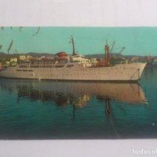Postales: TRANSBORDADOR CIUDAD DE BURGOS - MALLORCA, ESCRITA. Lote 67688821
