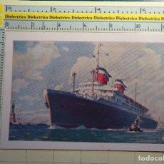Postales: POSTAL DE BARCOS NAVIERAS. AÑO 1957. BUQUE BARCO SS AMERICA TRASATLÁNTICO . 901. Lote 68470713