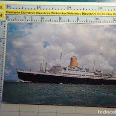 Postales: POSTAL DE BARCOS NAVIERAS. AÑO 1960. BARCO BUQUE TS BREMEN. 911. Lote 68471169