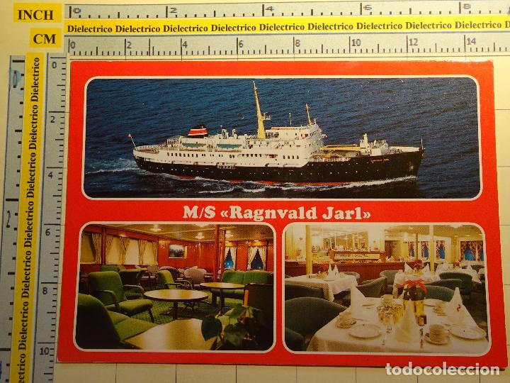 POSTAL DE BARCOS NAVIERAS. AÑO 1995. BARCO BUQUE MS RAGNVALD JARL, NORUEGA. 947 (Postales - Postales Temáticas - Barcos)