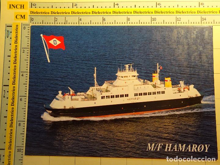POSTAL DE BARCOS NAVIERAS. AÑO 1995. BARCO BUQUE MF HAMAROY, NARVIK, NORUEGA. 949 (Postales - Postales Temáticas - Barcos)