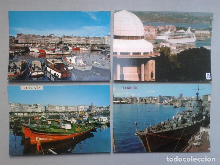 LOTE DE 4 POSTALES DE LA CORUÑA. TEMÁTICA DE BARCOS. (Postales - Postales Temáticas - Barcos)