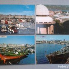 Postales: LOTE DE 4 POSTALES DE LA CORUÑA. TEMÁTICA DE BARCOS.. Lote 68667125
