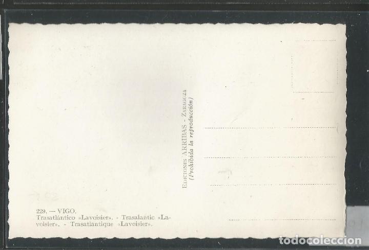 Postales: TRANSATLANTICO LAVOISIER - 229 - VIGO - ARRIBAS - VER REVERSO - (45.707) - Foto 2 - 69631309