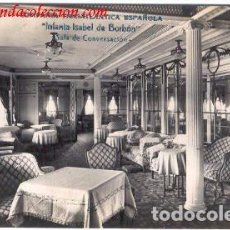 Postales: COMPAÑIA TRASATLANTICA ESPAÑOLA.- INFANTA ISABEL DE BORBÓN. Lote 69958629