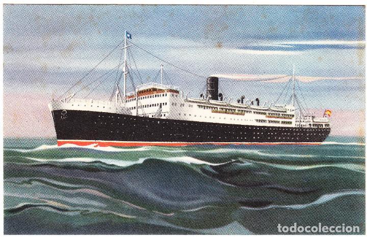 BARCO VAPOR MARQUES DE COMILLAS - COMPAÑIA TRASATLANTICA ESPAÑOLA (Postales - Postales Temáticas - Barcos)