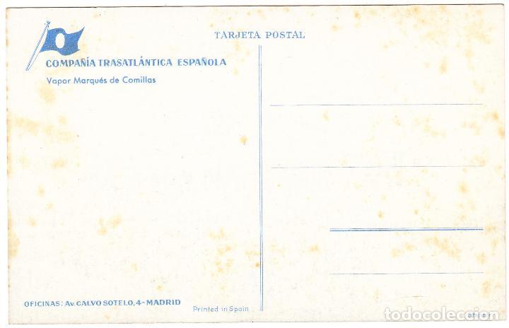 Postales: BARCO VAPOR MARQUES DE COMILLAS - COMPAÑIA TRASATLANTICA ESPAÑOLA - Foto 2 - 70352969