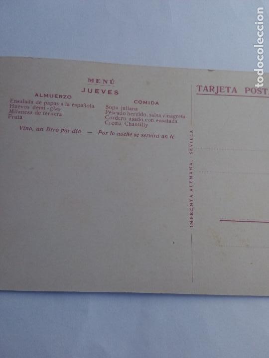 Postales: Tarjeta postal y barra y como.linea mediterráneo Brasil - plata cabo de san Antonio reverso menú - Foto 3 - 71665559