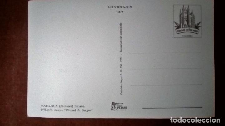 Postales: POSTAL BUQUE CIUDAD DE BURGOS - MALLORCA - Foto 2 - 72848867