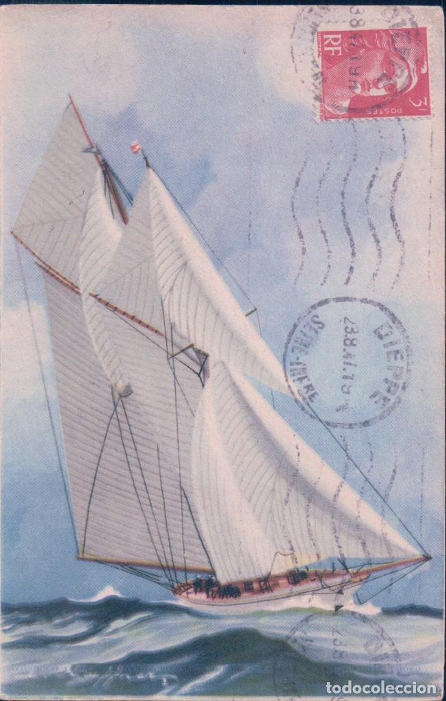 POSTAL COLLECTION DE LA LIGUE MARITIME ET COLONIALES - BARCO - CIRCULADA (Postales - Postales Temáticas - Barcos)