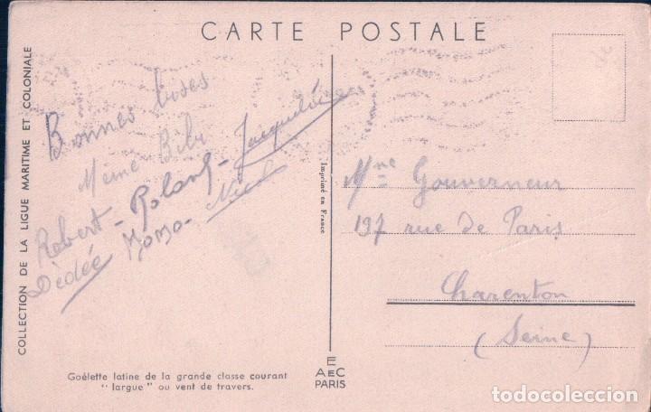 Postales: POSTAL COLLECTION DE LA LIGUE MARITIME ET COLONIALES - BARCO - CIRCULADA - Foto 2 - 75129383
