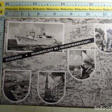 Postales: POSTAL DE BARCOS NAVIERAS. AÑOS 60. BUQUE BARCO CRUCERO MAR BÁLTICO. MS VOLKERFREUNDSCHAFT. 230. Lote 77265961
