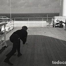 Postales: NEGATIVO BARCO SS PATRICIA SWEDISH LLOYD CUBIERTA 1966 KODAK 35MM PHOTO SHIP FOTO. Lote 79014937