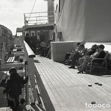 Postales: NEGATIVO BARCO SS PATRICIA SWEDISH LLOYD CUBIERTA 1966 KODAK 35MM PHOTO SHIP FOTO. Lote 79015125