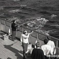 Postales: NEGATIVO BARCO SS PATRICIA SWEDISH LLOYD CUBIERTA TIRO AL PLATO 1966 KODAK 35MM PHOTO SHIP FOTO. Lote 79015677