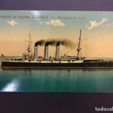 Postales: MARINA DE GUERRA ESPAÑOLA. ACORAZADO CARLOS V. Lote 80099461