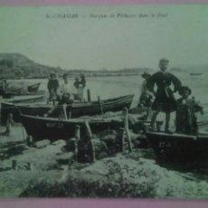 Postales: POSTAL FRANCIA 1919 BARCAS DE PESCADORES EN EL PUERTO . Lote 80123671