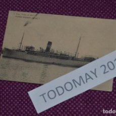 Postales: ANTIGUA POSTAL - CIRCULADA 1912 - VAPOR RAPIDO JAIME I - VINTAGE - ANTIGUA Y ORIGINAL. Lote 80140337