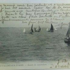 Postales: POSTAL FRANCIA 1918 SAINT VALERY SUR SOMME ENTRADA DE LOS BARCOS. Lote 80529534