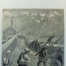Postales: POSTAL FRANCIA 1906 RESCATE DE UN NAUFRAGIO. Lote 80753158