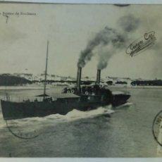 Postales: POSTAL FRANCIA 1903 ROYAN SALIDA DEL BARCO DE BURDEOS. Lote 80766754