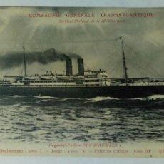 Postales: POSTAL FRANCIA CIE GENERALE TRANSATLANTIQUE PAQUEBOT POSTE DUC D'AUMALE. Lote 80773607