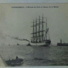 Postales: POSTAL FRANCIA 1905 DUNKERQUE BARCO ENTRADA EN PUERTO. Lote 80774292
