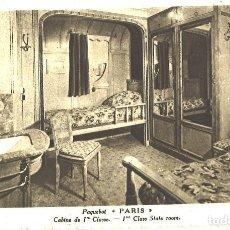 Postales: PAQUEBOT PARIS. COMPAÑIA GENERAL TRASATLANTICA. Lote 80790782