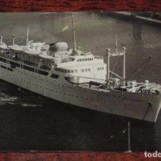 Postales: FOTO POSTAL DEL BARCO CIUDAD DE BURGOS, CIA. TRANSMEDITERRANEO, ARCHIVO M. GALILEA, CIRCULADA.. Lote 81188064