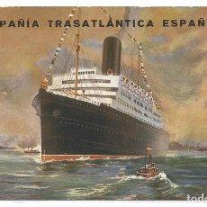 Cartes Postales: COMPAÑIA TRASATLANTICA ESPAÑOLA .- EDICION I.G. EL SIGLO XX . Lote 82159620