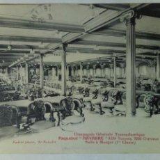 Postales: POSTAL FRANCIA 1913 CIE GENERALE TRANSATLANTIQUE PAQUEBOT NAVARRE COMEDOR. Lote 80774059