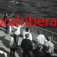 Postales: NEGATIVO BARCO SS PATRICIA SWEDISH LLOYD CUBIERTA TIRO AL PLATO 1966 KODAK 35MM PHOTO SHIP FOTO. Lote 84218604