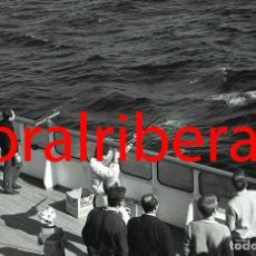 Postales: NEGATIVO BARCO SS PATRICIA SWEDISH LLOYD CUBIERTA TIRO AL PLATO 1966 KODAK 35MM PHOTO SHIP FOTO. Lote 84219976