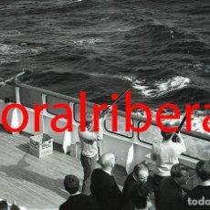 Postales: NEGATIVO BARCO SS PATRICIA SWEDISH LLOYD CUBIERTA TIRO AL PLATO 1966 KODAK 35MM PHOTO SHIP FOTO. Lote 84221132