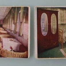 Postales: ANTIGUAS POSTALES COMPAÑÍA TRANSMEDITERRANEA M/N CIUDAD BARCELONA PALMA: CAMAROTES BAR – AÑOS 30. Lote 86010752