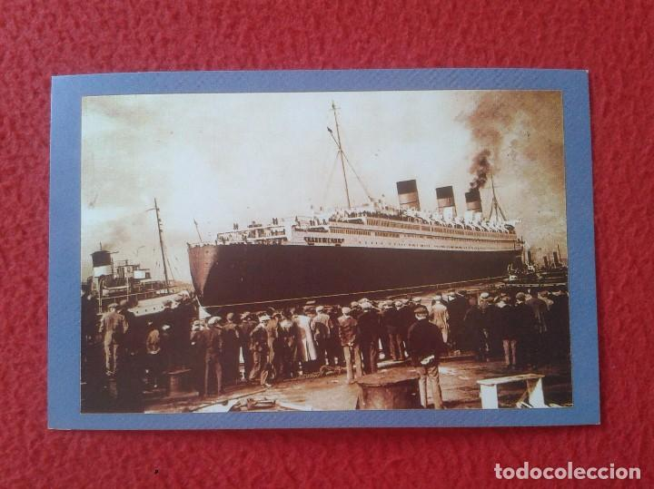 POSTAL POST CARD THE NOSTALGIA POSTCARD VINTAGE 1936 THE QUEEN MARY SAILS. GLASGOW CLIDEBANK VER FOT (Postales - Postales Temáticas - Barcos)