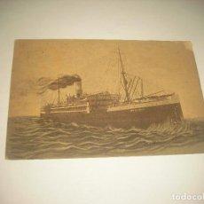 Postales: TRANSPORTES MARITIMOS PORTUGAL . BARCO TRAZ OS MONTES . CIRCULADA 1937. Lote 88765280