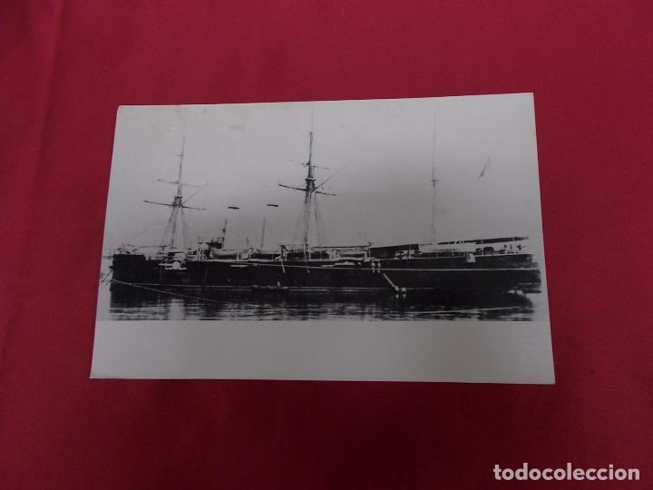 TARJETA POSTAL. CRUCERO ALFONSO XII. LA CONSTRUCCION NAVAL MILITAR ESPAÑOLA. (Postales - Postales Temáticas - Barcos)