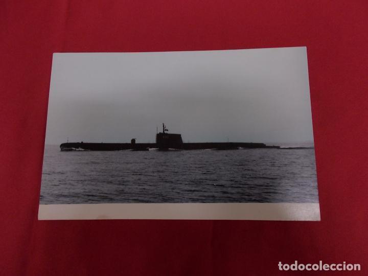 TARJETA POSTAL. EL SUBMARINO S-22. LA CONSTRUCCION NAVAL MILITAR ESPAÑOLA. (Postales - Postales Temáticas - Barcos)
