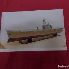 Postales: TARJETA POSTAL. MAQUETA FUTURO PORTAAERONAVES SKYJUMP. LA CONSTRUCCION NAVAL MILITAR ESPAÑOLA. . Lote 88992600