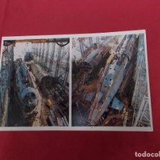 Postales: TARJETA POSTAL. LOS SUBMARIONOS S-71 Y S-72 EN CONSTRUCCIÓN. LA CONSTRUCCION NAVAL MILITAR ESPAÑOLA.. Lote 88993444