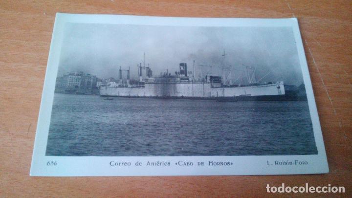 VAPORES CORREOS ESPAÑOLES - CORREO DE AMERICA CABO DE HORNOS - EN BARCELONA - S/C (Postales - Postales Temáticas - Barcos)