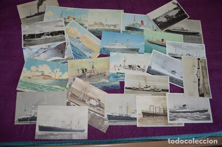 LOTAZO IMPRESIONANTE - 24 POSTALES SIN CIRCULAR DE BARCOS - POSTALES ANTIGUAS - HAZME OFERTA (Postales - Postales Temáticas - Barcos)