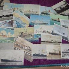 Postales: LOTAZO IMPRESIONANTE - 24 POSTALES SIN CIRCULAR DE BARCOS - POSTALES ANTIGUAS - HAZME OFERTA. Lote 89543600