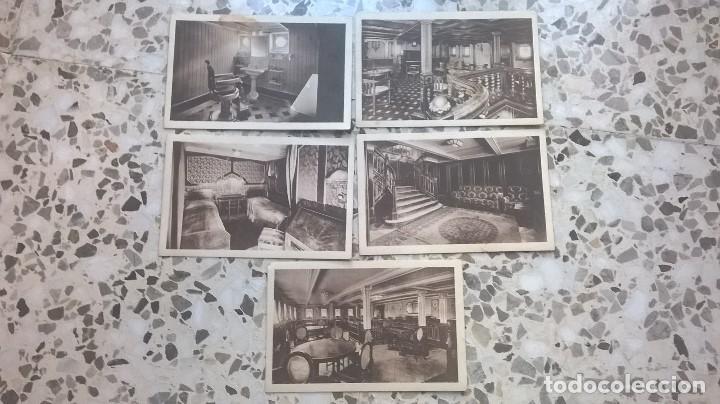 COLECCIÓN DE 5 POSTALES, COMPAÑÍA TRASMEDITERRANEA, VAPOR TEIDE, SIN CIRCULAR (Postales - Postales Temáticas - Barcos)