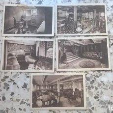 Postales: COLECCIÓN DE 5 POSTALES, COMPAÑÍA TRASMEDITERRANEA, VAPOR TEIDE, SIN CIRCULAR. Lote 90085832